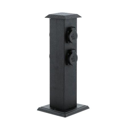 Стовпчик з блоком розеток PARK 4 чорний 93426 EGLO