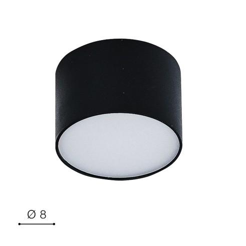 Светильник накладной Monza R8 AZ2255 LED 5W 3000K черный AZzardo