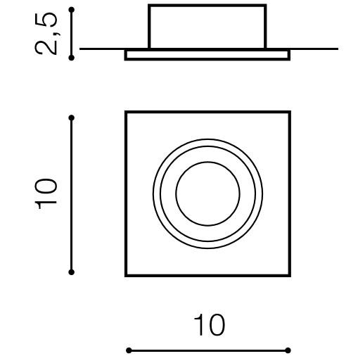 Светильник точечный Editta алюминий AZ0806 AZzardo