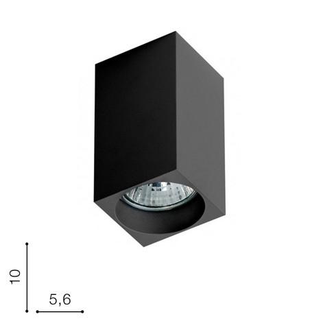 Светильник накладной Mini square AZ1382 черный AZzardo