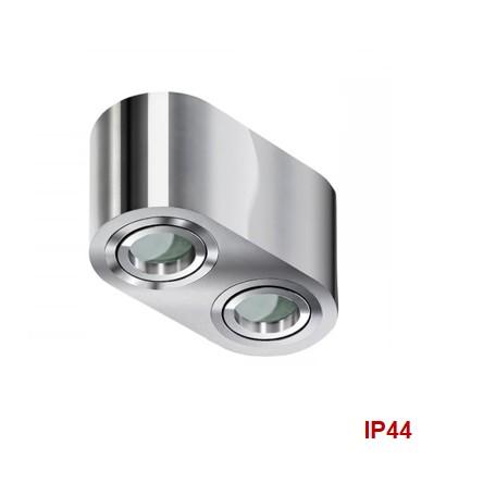 Светильник накладной Brant 2 хром IP44 AZ2817 AZzardo