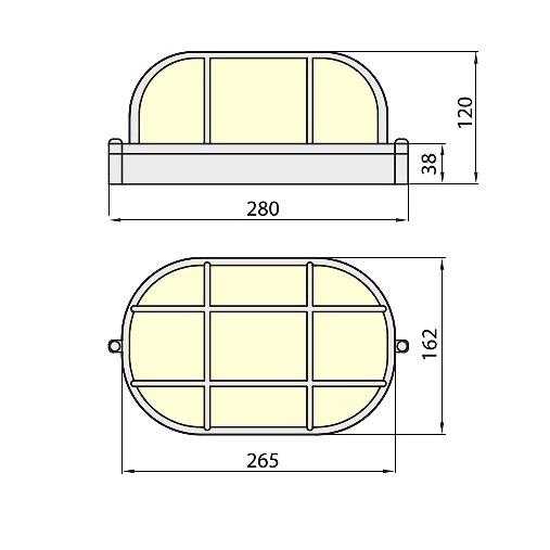 Светильник 236 черный IP54 Brilum
