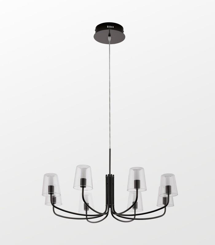 Люстра Noventa LED 96514 черная/прозрачная EGLO