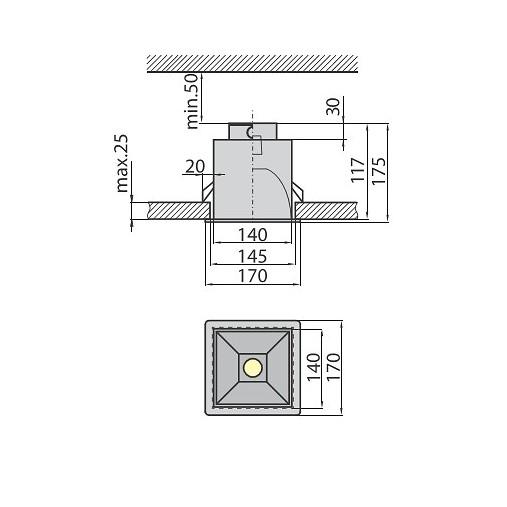Светильник TEO 10L серебро Brilum