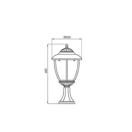 Светильник садовый Thales P2L черный IP44  Brilum